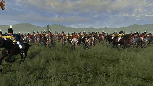 General Blücher leading a cavalry charge