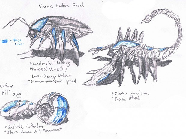 Colony Units/Infantry Sketches