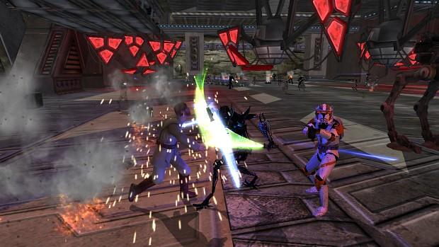 Kenobi vs Grievous 2 and Cody - gameplay screensho