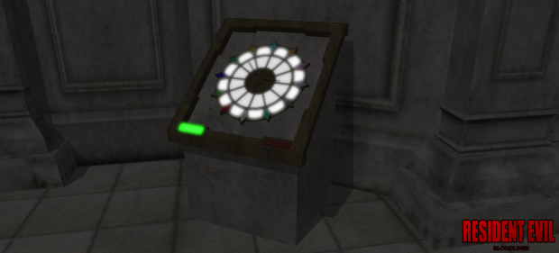 Raccoon City Hall Gem Clock Puzzle( Lit Up)