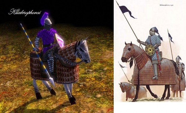 Ingame and Historical view of Klibanophoroi