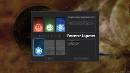 Pentastar Alignment Faction Select Screen