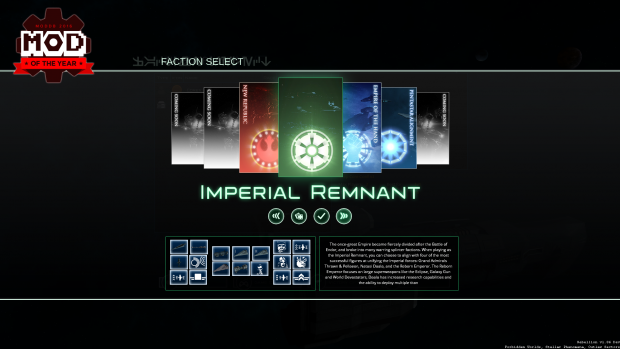 Updated Faction Select Screen