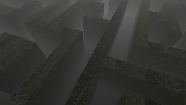 The Maze at Night with Fog