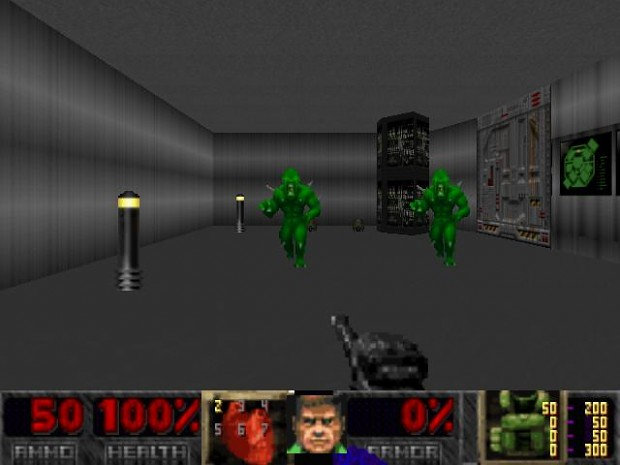Doom 2 RPG Weapon Assault rifle and HUD