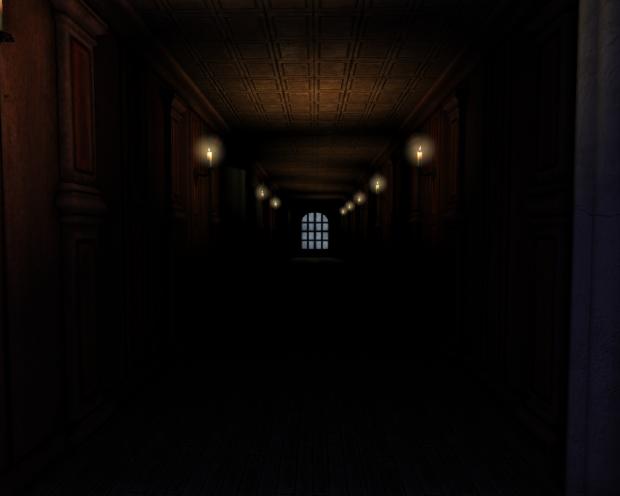The hallway...