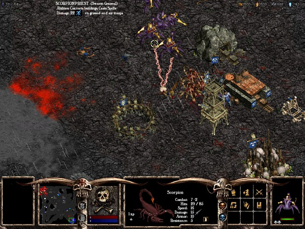 The Swarm attacking an Undead Base during Storm