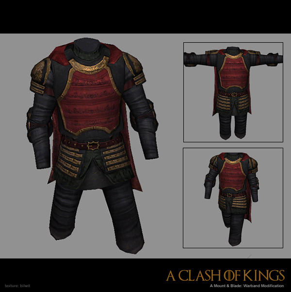 Caped Lannister armor, second version