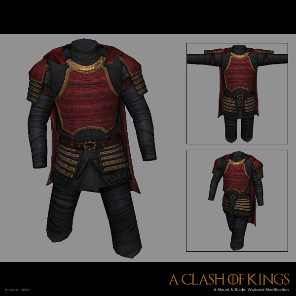 Caped Lannister armor