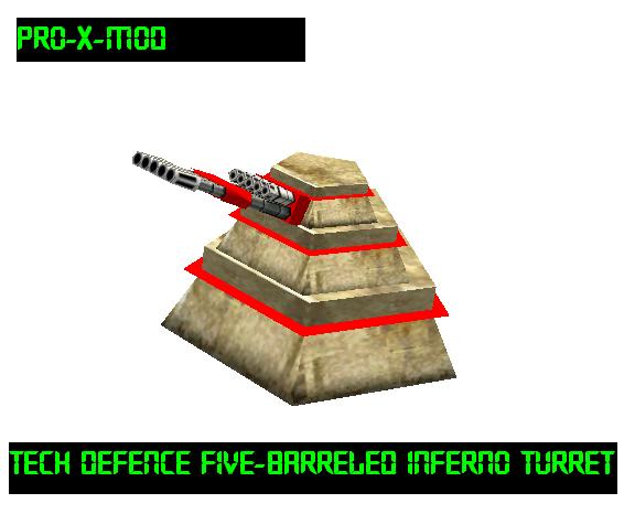 Tech Defence 5 Barreled Inferno Turret