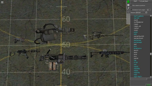 Some of the Fallout Weapons