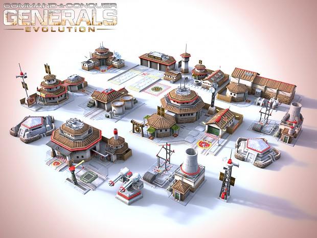[ Generals Evolution ] Structures Renders