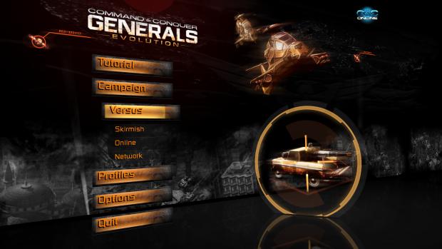 C&C Generals Evolution Main Menu