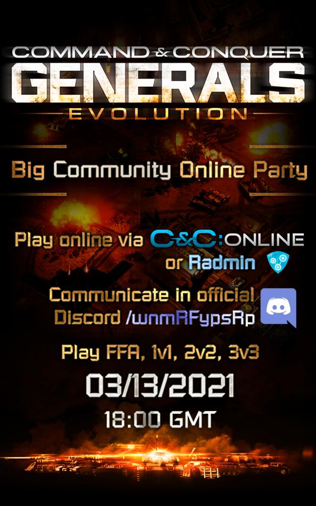 [ Generals Evolution ] Online Party