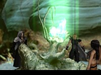 Cloud, Tifa and Sephiroth at Mt.Nibel Scene