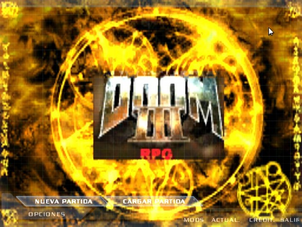 Doom 3 RPG Main Menu!