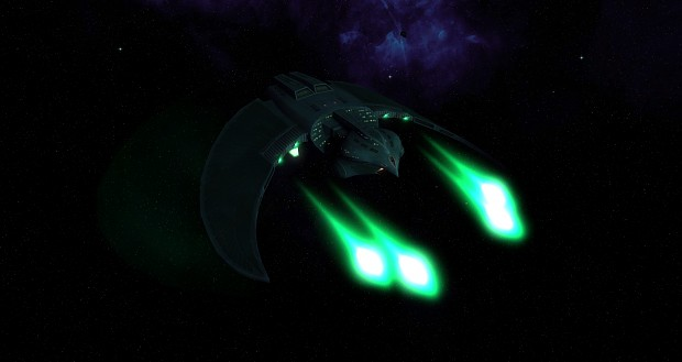 The Romulan defiant...