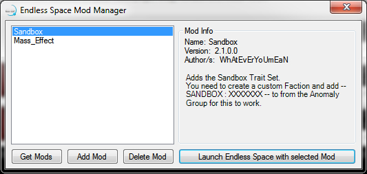 Mod Manager Interface