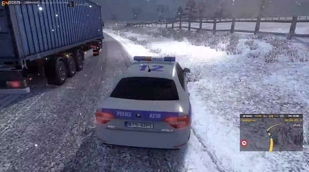 Ets2mp December 2015 Winter Mod Police Car Video Euro Truck