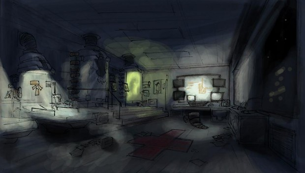 Infirmary Concept arts