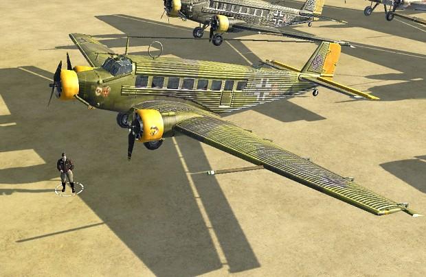 Ju-52 Crete skins