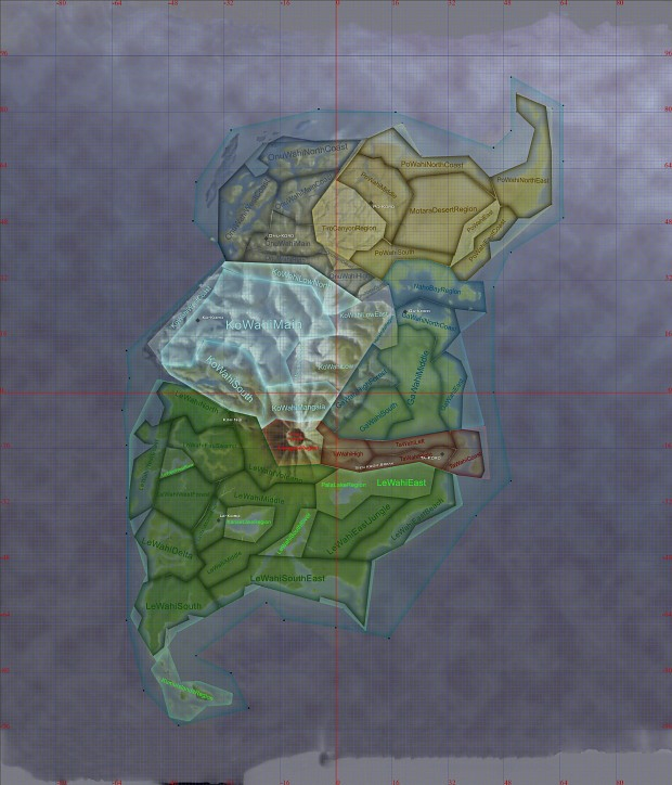 Mata Nui Regions map