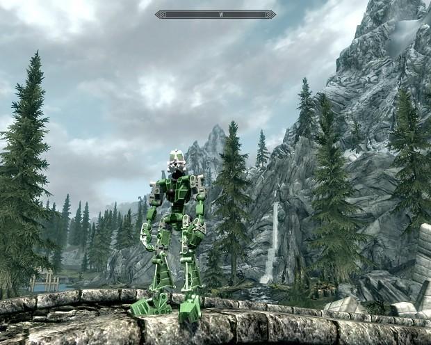 Toa Mata leg armor type A