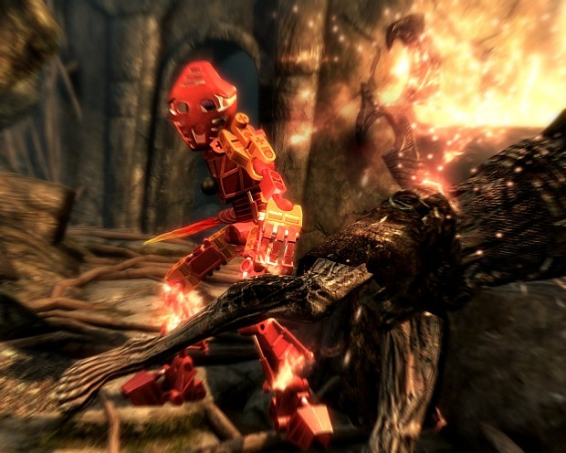 Toa of Fire in action