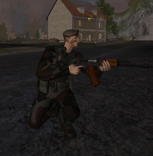 AK-47 with the bakelite magazine