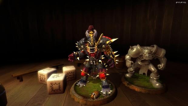 Khorngor Beastman with retextured props