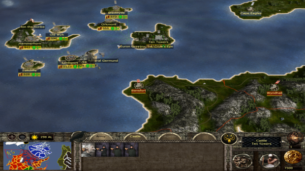 House Greyjoy strat-map preview!