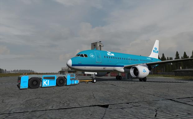Dutch Armed Forces v1 Goldhofer & A319 Airbus KLM