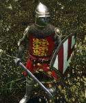 English heraldic armour concept