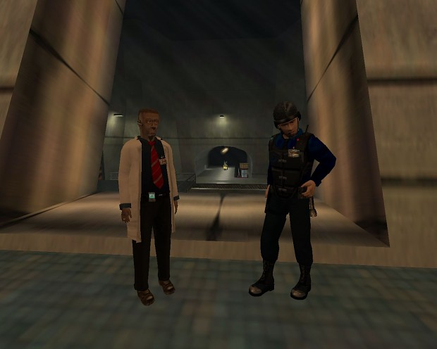 HL1 UD Real Security Guard And Dark Scientist