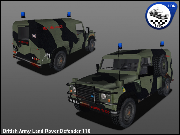 British Army Land Rover Defender 110