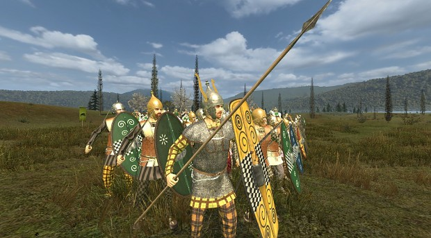 Celtic noble and swordsmen