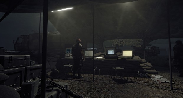 2K12 SAM control tent