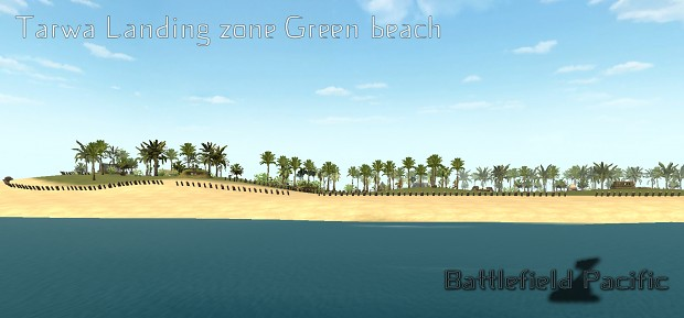 Green beach view ; WIP