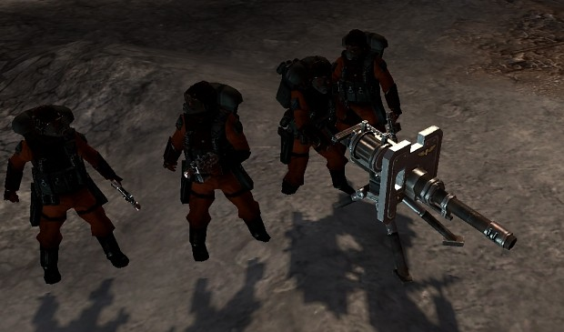 Inquisition heavy weapon squad