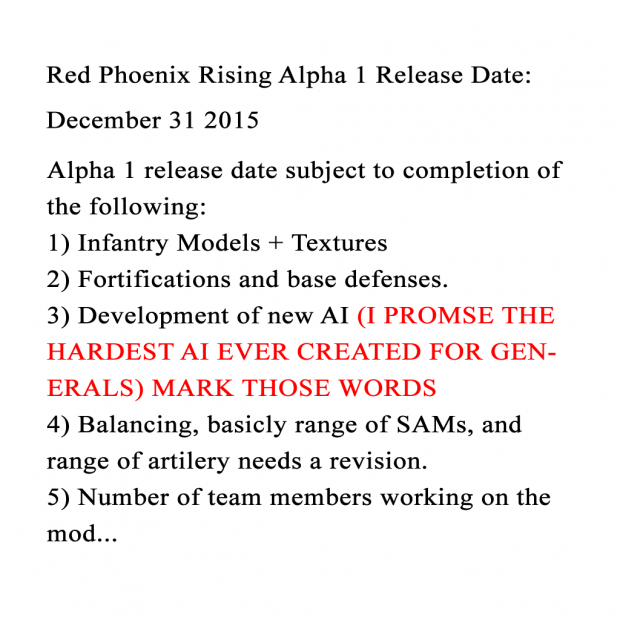 Alpha 1 Target Release Date Announced