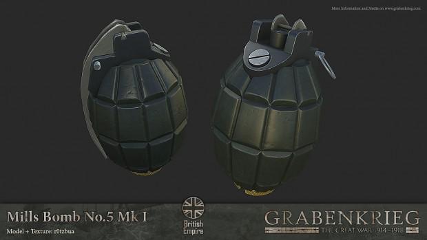 Mills Bomb No.5 Mk I