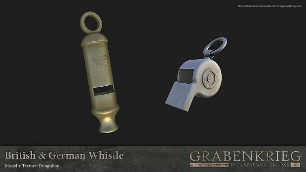 British & German Whistles