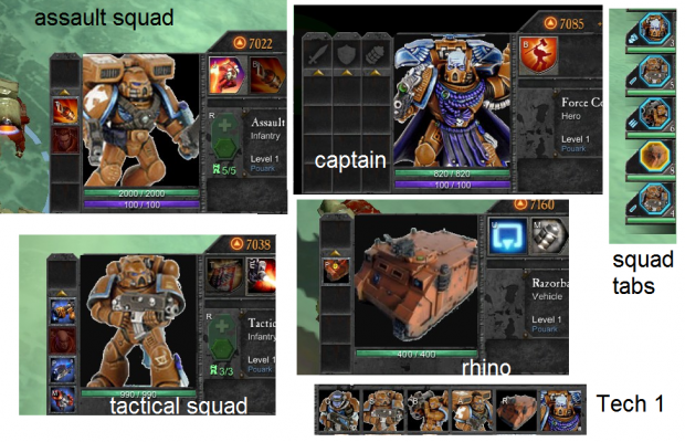 Space Marines new icons