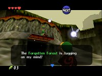 Before Link leaves the Forgotten Forest