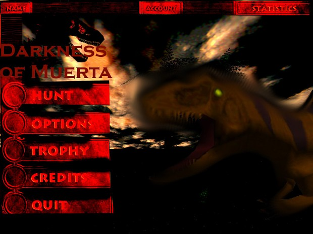 Darkness of Muerta main menu