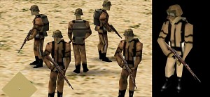 new German desert infantry models