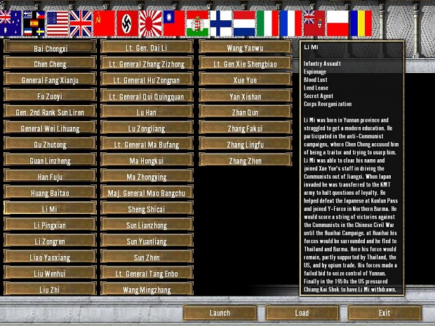 WW2 campaign menu