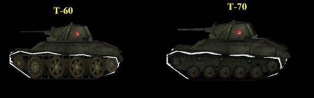 the T-60 vs the T-70