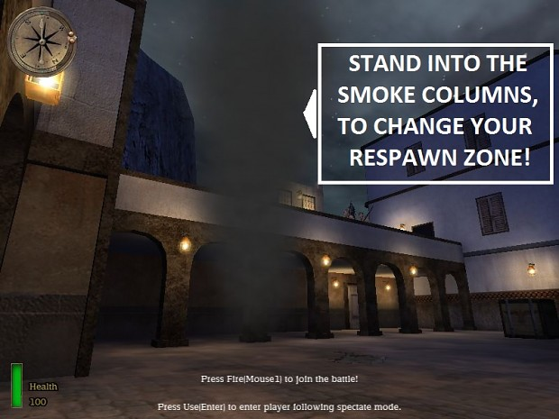 Respawn Points: Marked by Smoke Columns