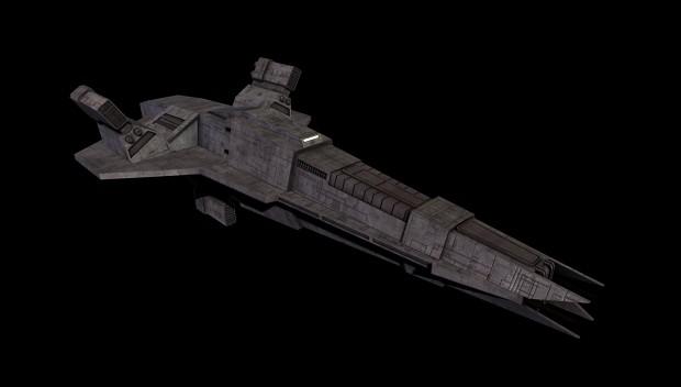 Cabur'Kal-Type Heavy Cruiser - WIP 2 Skinned